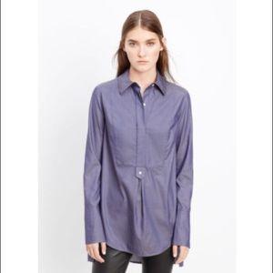 Vince Herringbone Tuxedo Inset Shirt sz XXS